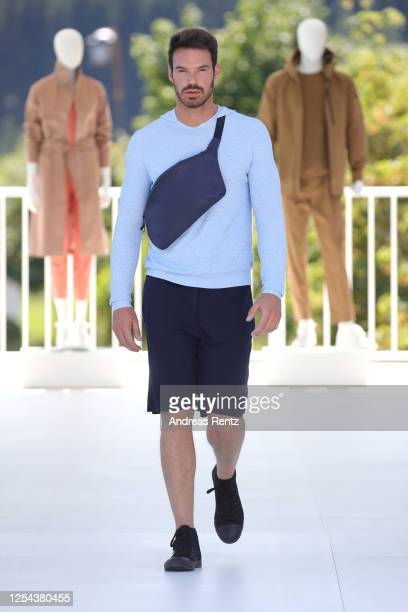 A model walks the runway during the AlphaTauri Collection Preview Spring/Summer 2021 at Hotel Schönberghof on July 04 2020 near Graz Austria...
