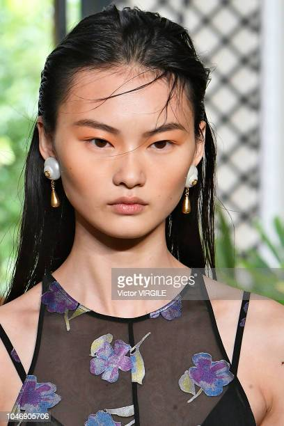 A model walks the runway during the Altuzarra Ready to Wear fashion show as part of the Paris Fashion Week Womenswear Spring/Summer 2019 on September...