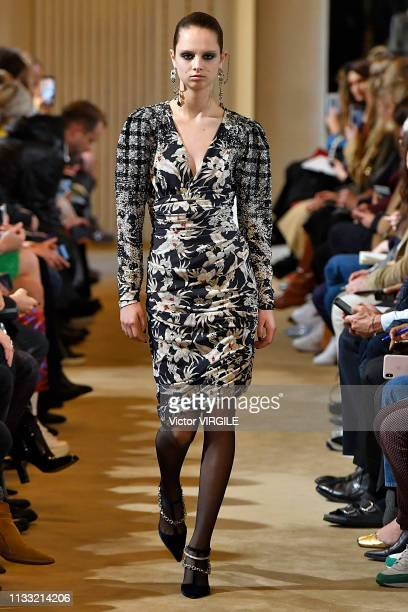 A model walks the runway during the Altuzarra Ready to Wear fashion show as part of the Paris Fashion Week Womenswear Fall/Winter 2019/2020 on March...