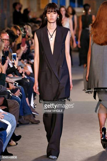 A model walks the runway during the Altuzarra Ready to Wear Spring/Summer fashion show as part of the Paris Fashion Week Womenswear Spring/Summer...
