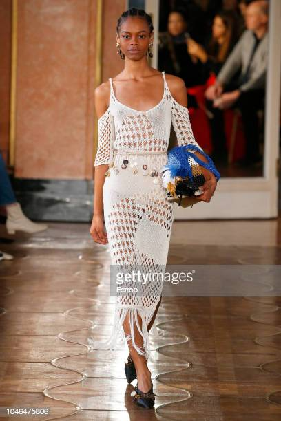 A model walks the runway during the Altuzarra show as part of the Paris Fashion Week Womenswear Spring/Summer 2019 on September 29 2018 in Paris...