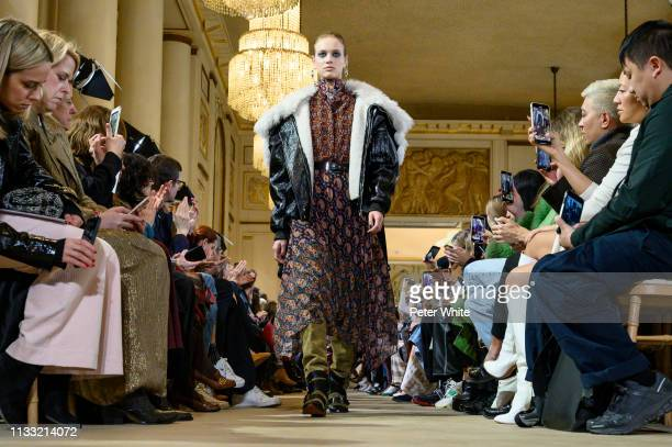 A model walks the runway during the Altuzarra show as part of the Paris Fashion Week Womenswear Fall/Winter 2019/2020 on March 02 2019 in Paris France