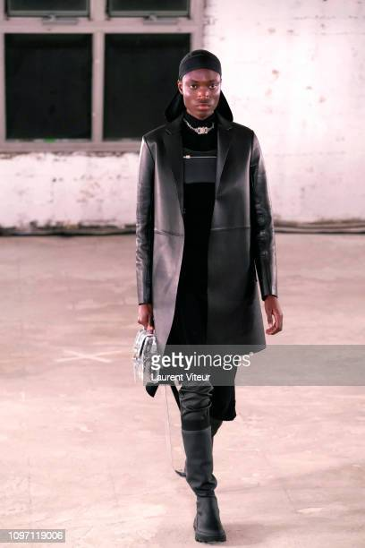 A model walks the runway during the Alyx Menswear Fall/Winter 20192020 show as part of Paris Fashion Week on January 20 2019 in Paris France