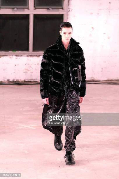 Model walks the runway during the Alyx Menswear Fall/Winter 2019-2020 show as part of Paris Fashion Week on January 20, 2019 in Paris, France.