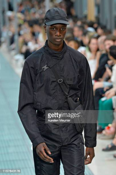 Model walks the runway during the Alyx Menswear Spring Summer 2020 show as part of Paris Fashion Week on June 23, 2019 in Paris, France.