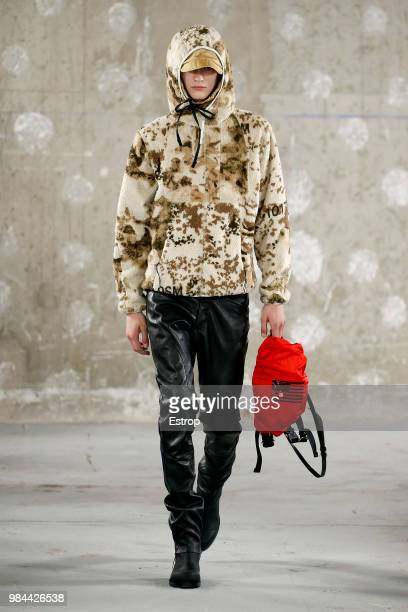A model walks the runway during the Alyx Menswear Spring/Summer 2019 show as part of Paris Fashion Week on June 24 2018 in Paris France