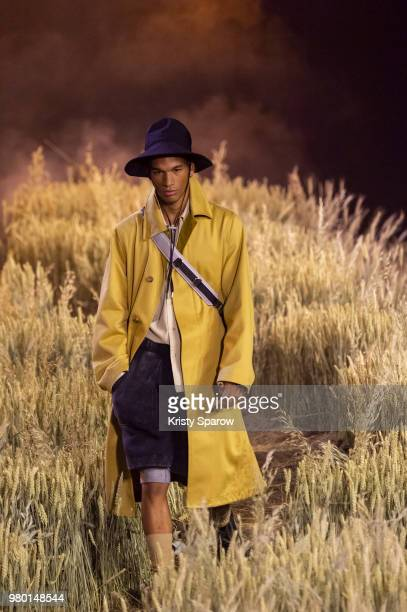 A model walks the runway during the Ami Alexandre Mattiussi Menswear Spring/Summer 2019 show as part of Paris Fashion Week on June 21 2018 in Paris...