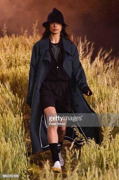 A model walks the runway during the Ami Alexandre Mattiussi Menswear Spring/Summer 2019 show as part of Paris Fashion Week on June 21 2018 in Paris...