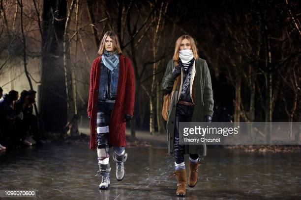 A model walks the runway during the Amiri Menswear Fall/Winter 20192020 show as part of Paris Fashion Week on January 18 2019 in Paris France