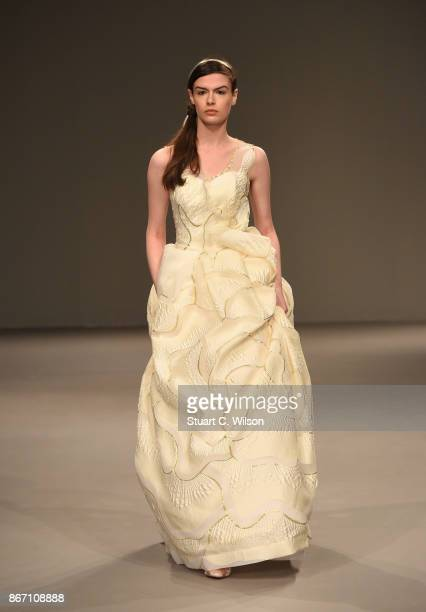 A model walks the runway during the Anaya show at Fashion Forward October 2017 held at the Dubai Design District on October 27 2017 in Dubai United...