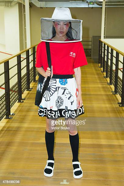 A model walks the runway during the Andrea Crews Menswear Spring/Summer 2016 show as part of Paris Fashion Week on June 25 2015 in Paris France