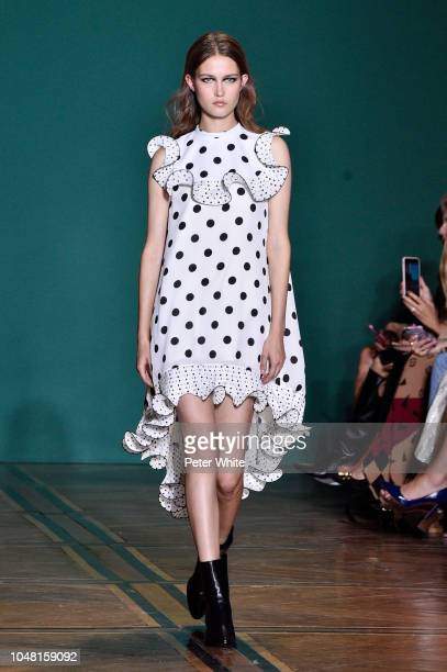 A model walks the runway during the Andrew GN show as part of the Paris Fashion Week Womenswear Spring/Summer 2019 on September 28 2018 in Paris...