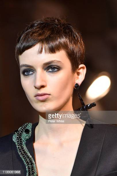 A model walks the runway during the Andrew GN show as part of the Paris Fashion Week Womenswear Fall/Winter 2019/2020 on March 01 2019 in Paris France