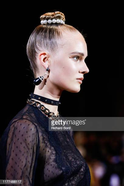 A model walks the runway during the Andrew GN Womenswear Spring/Summer 2020 show as part of Paris Fashion Week on September 27 2019 in Paris France