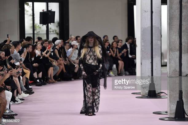 A model walks the runway during the Ann Demeulemeester Menswear Spring/Summer 2019 show as part of Paris Fashion Week on June 22 2018 in Paris France