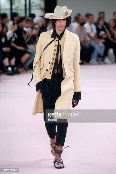 Models walk the runway during the Ann Demeulemeester Menswear Spring/Summer 2019 show as part of Paris Fashion Week on June 22 2018 in Paris France
