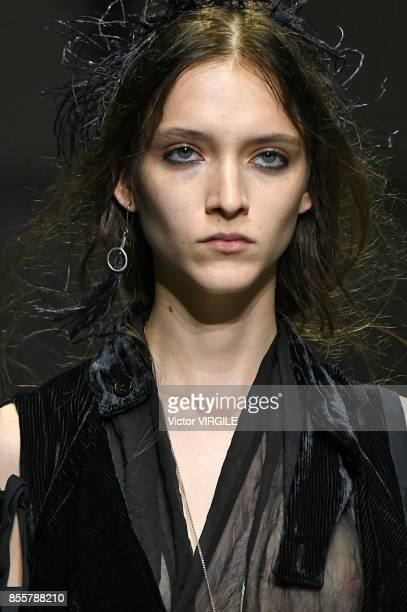 A model walks the runway during the Ann Demeulemeester Ready to Wear Spring/Summer 2018 fashion show as part of the Paris Fashion Week Womenswear...