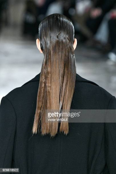 A model walks the runway during the Ann Demeulemeester Ready to Wear Fall/Winter 20182019 fashion show as part of the Paris Fashion Week Womenswear...