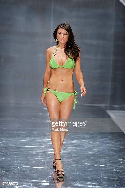 A model walks the runway during the Anna Kosturova Spring 2007 fashion show held at Performance Works Theatre on September 28 2006 in Vancouver Canada