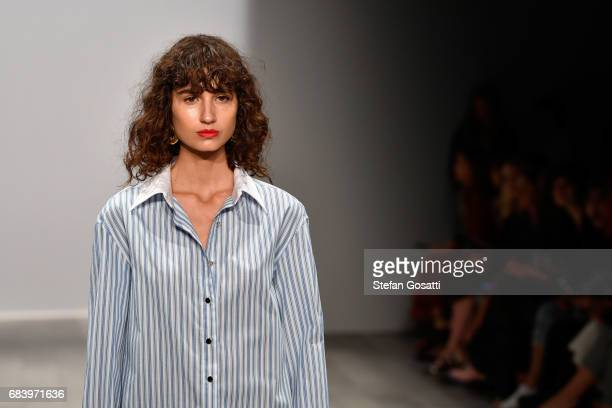 A model walks the runway during the ANNA QUAN show at MercedesBenz Fashion Week Resort 18 Collections at Carriageworks on May 17 2017 in Sydney...