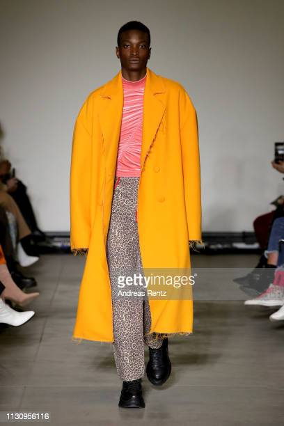 A model walks the runway during the Annakiki Fashion Show Milan Fashion Week Autumn/Winter 2019/20 on February 20 2019 in Milan Italy