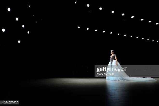 A model walks the runway during the Aqua Blu show at MercedesBenz Fashion Week Resort 20 Collections at Carriageworks on May 16 2019 in Sydney...