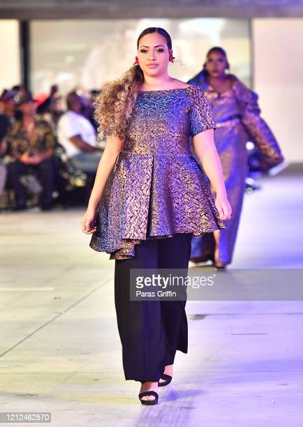 A model walks the runway during The Art Institute of Atlanta 2020 Fashion Premiere Show at The Art Institute of Atlanta on March 14 2020 in Atlanta...