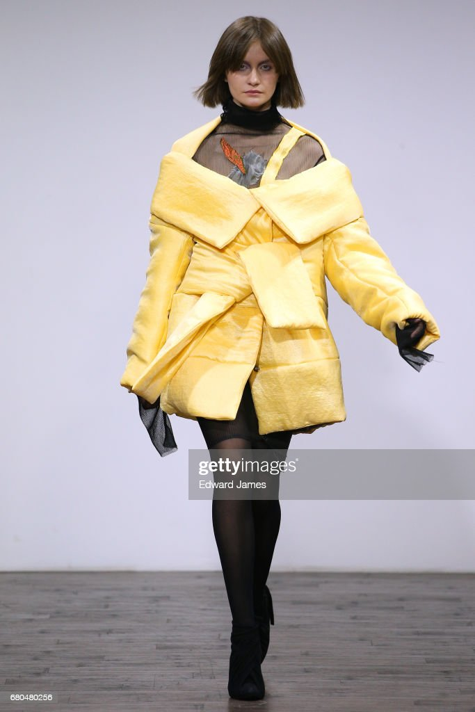 A model walks the runway during the Atelier Kikala Fall/Winter 2017/2018 collection fashion show during Mercedes-Benz Fashion Week Tbilisi on May 8, 2017 in Tbilisi, Georgia.
