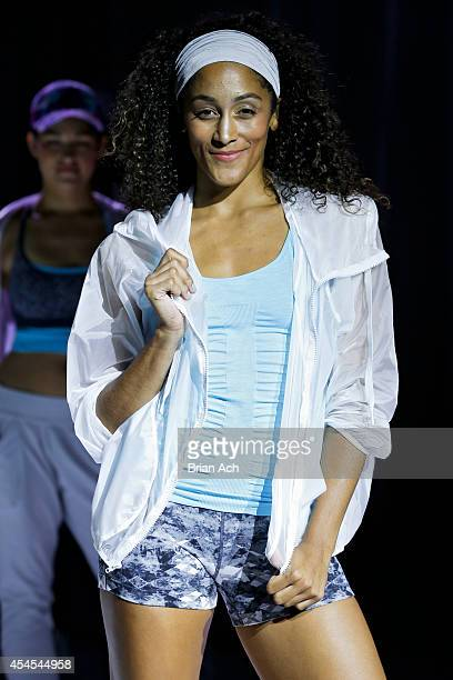 A model walks the runway during the Athleta  Runway show during MercedesBenz Fashion Week Spring 2015 at SIR Stage on September 3 2014 in New York...