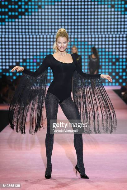 A model walks the runway during the attends Calzedonia Legs Show on September 5 2017 in Verona Italy