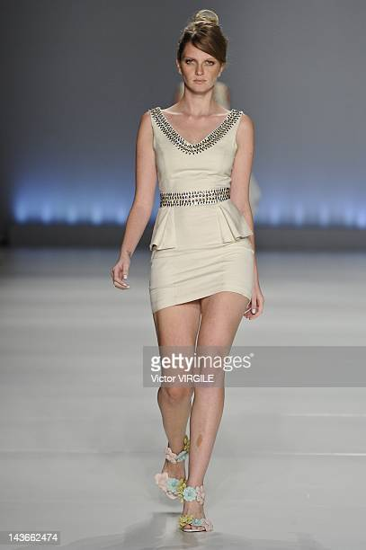 A model walks the runway during the Aurea Prates show as part of the Minas Trend Preview Fashion Week Spring Summer 2013 on April 27 2012 in Belo...