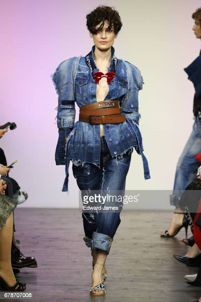 A model walks the runway during the Avtandil Fall/Winter 2017/2018 collection fashion show during MercedesBenz Fashion Week Tbilisi on May 4 2017 in...