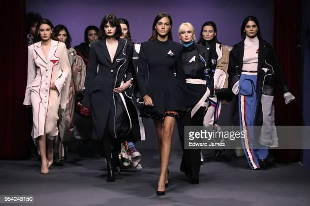 A model walks the runway during the Avtandil fashion show at MercedesBenz Fashion Week Tbilisi on May 3 2018 in Tbilisi Georgia