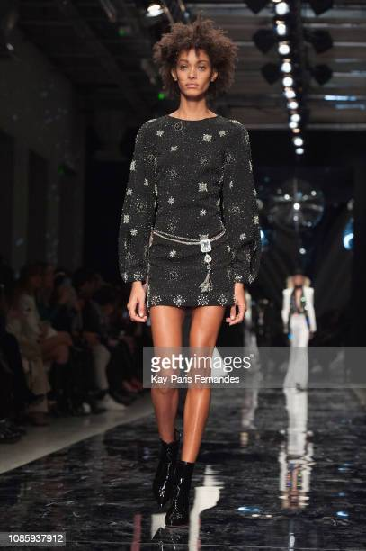 A model walks the runway during the Azzaro Couture Spring Summer 2019 show as part of Paris Fashion Week on January 21 2019 in Paris France