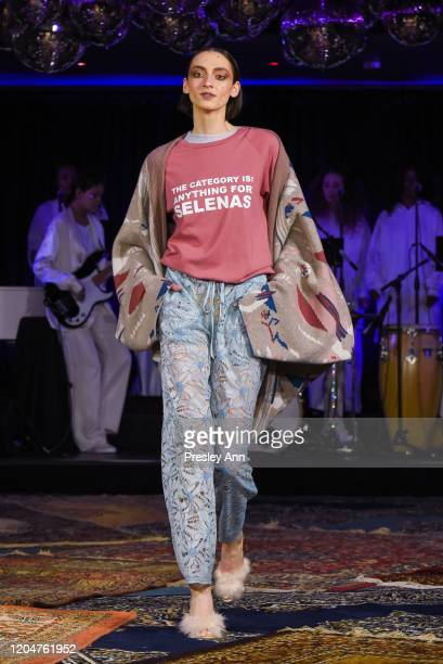 A model walks the runway during the Baja East FW20 Los Angeles runway show at Sunset at EDITION on February 07 2020 in West Hollywood California