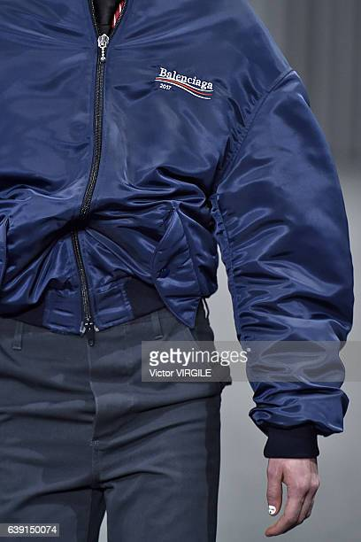 A model walks the runway during the Balenciaga Menswear Fall/Winter 20172018 show as part of Paris Fashion Week on January 18 2017 in Paris France