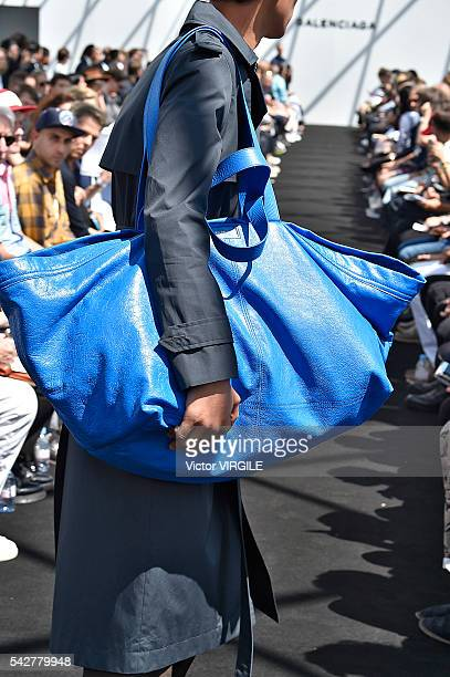 A model walks the runway during the Balenciaga Menswear Spring/Summer 2017 show as part of Paris Fashion Week on June 22 2016 in Paris France