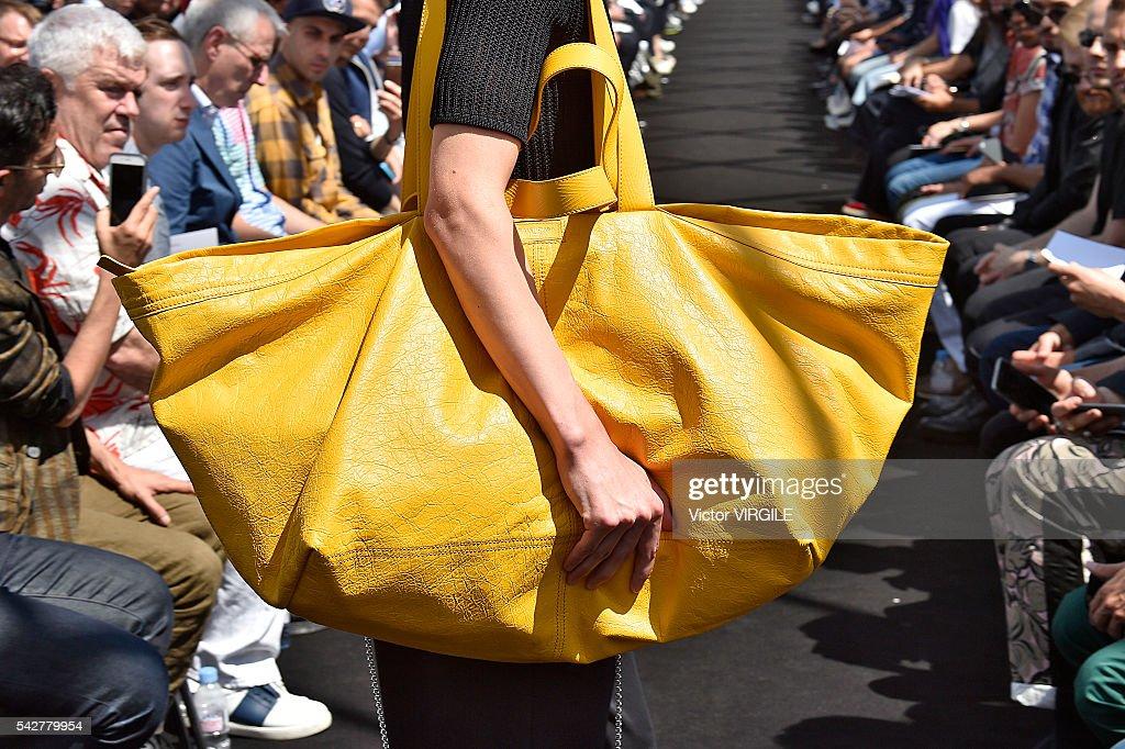 A model walks the runway during the Balenciaga Menswear Spring/Summer 2017 show as part of Paris Fashion Week on June 22, 2016 in Paris, France.