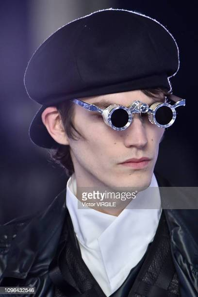 A model walks the runway during the Balmain Homme Menswear Fall/Winter 20192020 fashion show as part of Paris Fashion Week on January 18 2019 in...
