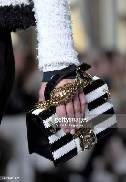 Model walks the runway during the Balmain Menswear Spring/Summer 2019 show as part of Paris Fashion Week on June 24, 2018 in Paris, France.