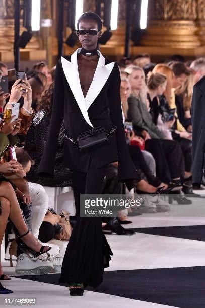 Model walks the runway during the Balmain Womenswear Spring/Summer 2020 show as part of Paris Fashion Week on September 27, 2019 in Paris, France.