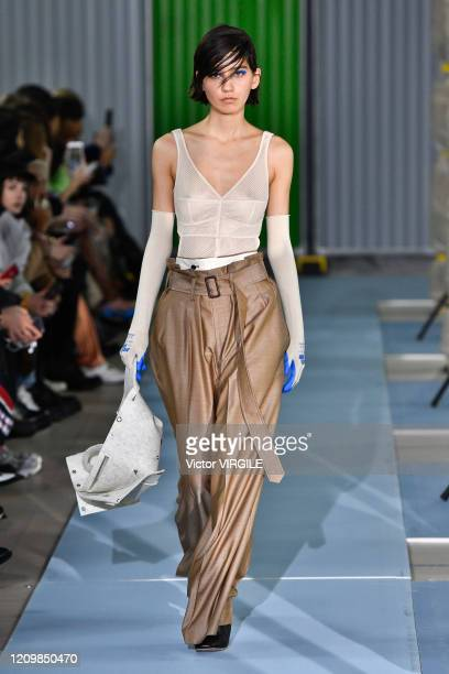 A model walks the runway during the Beautiful People Ready to Wear fashion show as part of the Paris Fashion Week Womenswear Fall/Winter 20202021 on...