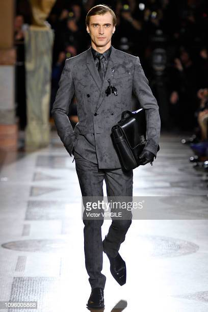 A model walks the runway during the Berluti Menswear Fall/Winter 20192020 fashion show as part of Paris Fashion Week on January 18 2019 in Paris...