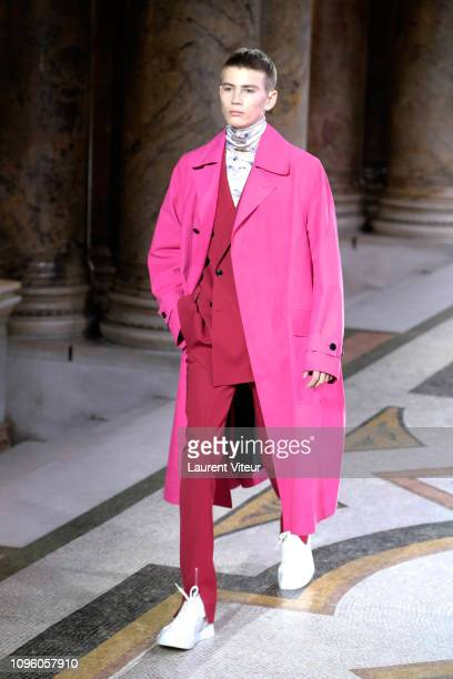 Model walks the runway during the Berluti Menswear Fall/Winter 2019-2020 show as part of Paris Fashion Week on January 18, 2019 in Paris, France.