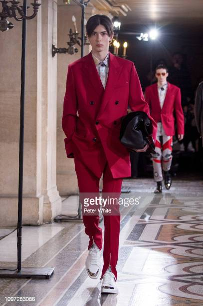 A model walks the runway during the Berluti Menswear Fall/Winter 20192020 show as part of Paris Fashion Week on January 18 2019 in Paris France