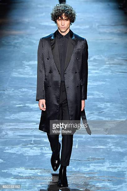 A model walks the runway during the Berluti Menswear Fall/Winter 20172018 show as part of Paris Fashion Week on January 20 2017 in Paris France