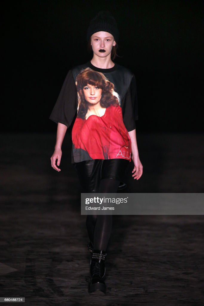 A model walks the runway during the Bessarion Fall/Winter 2017/2018 collection fashion show during Mercedes-Benz Fashion Week Tbilisi on May 8, 2017 in Tbilisi, Georgia.