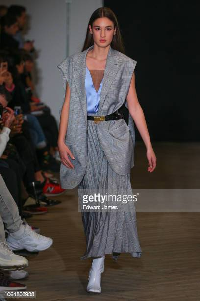 A model walks the runway during the Bessarion Spring/Summer 2019 Collection fashion show at MercedesBenz Fashion Week Tbilisi on November 5 2018 in...