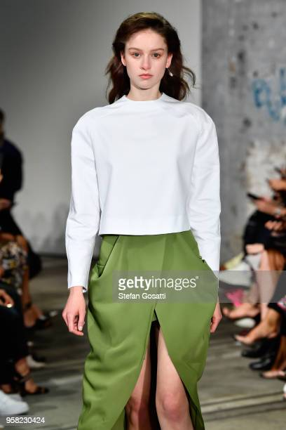A model walks the runway during the Bianca Spender show at MercedesBenz Fashion Week Resort 19 Collections at Carriageworks on May 14 2018 in Sydney...