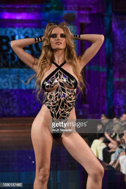 A model walks the runway during the BLACK TAPE PROJECT show at New York Fashion Week Powered By Art Hearts Fashion at The Angel Orensanz Foundation...
